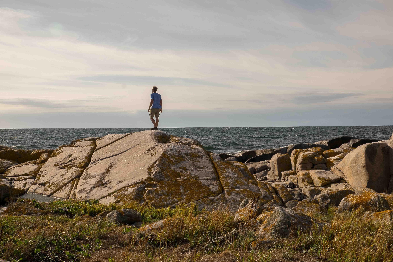 Utklippan: Felseninsel im Meer