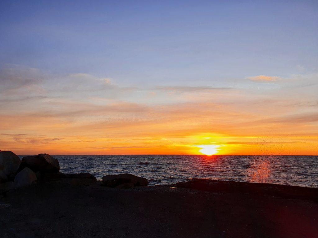 Rønne: Sonnenuntergang