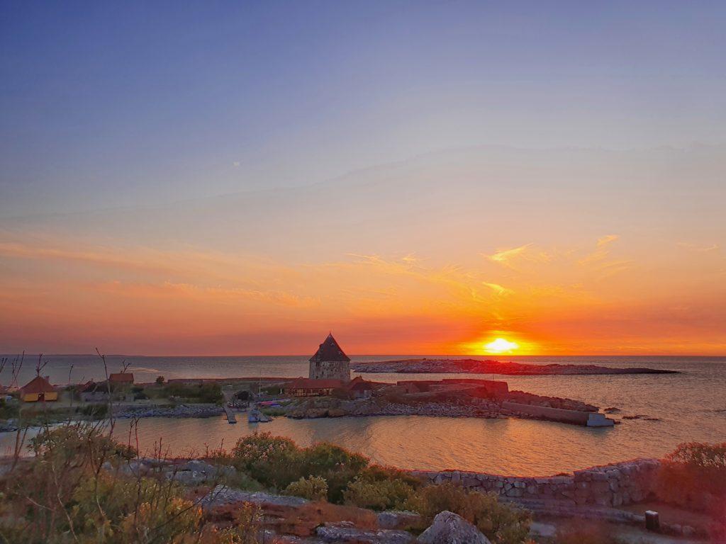 Frederiksø im Sonnenuntergang